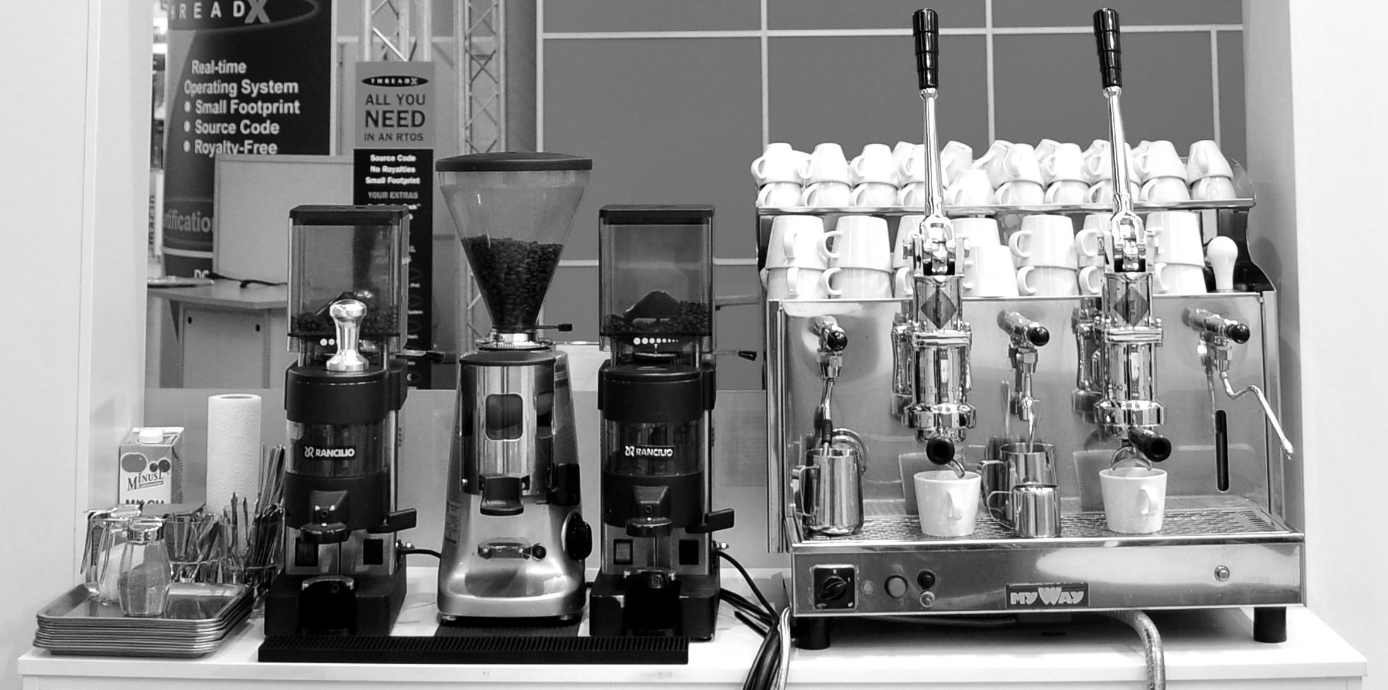Espressomaschine mit 3 Mühlen